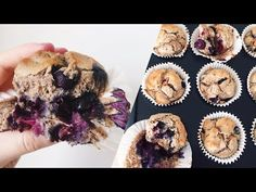 VEGAN BLUEBERRY MUFFINS // GF, Sugar Free & Healthy! - YouTube