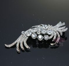VINTAGE STYLE RHINESTONE CRYSTAL BRIDAL WEDDING JEWELRY HAIR CRAFT BROOCH PIN