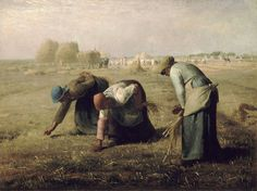 1857 The Gleaners Art Canvas//Poster Print A3//A2//A1 Millet