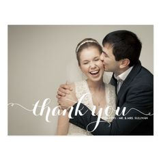 Vintage Wedding Thank You Cards Romantic Script Wedding Photo Thank You Card Photo Thank You Cards, Thank You Photos, Custom Thank You Cards, Photo Cards, Wedding Thank You Postcards, Wedding Postcard, Card Wedding, Wedding Bride, Wedding Tips