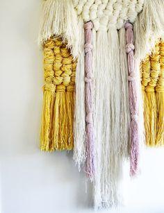 gretchenjonesnyc:    so into fiber art wall hangings