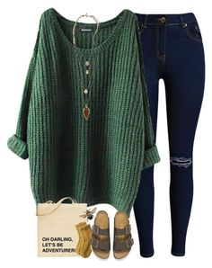 """""""Untitled #1149"""" by lilypackard ❤ liked on Polyvore featuring Toast, Birkenstock and Topshop"""