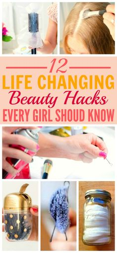 These 12 beyond easy beauty hacks every girl should know are THE BEST! I'm so happy I found these GREAT tips! Now I have some cool tricks to try! I'm  SO pinning for later!