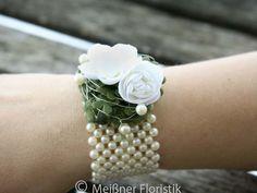 Brautschmuck - Armband für Braut oder Trauzeugin - ein Designerstück von Meissner-Floristik bei DaWanda