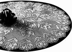 Silberblume - Round Tablecloth In Knitted Lace By Herbert Niebling - PDF - US Letter Paper Size
