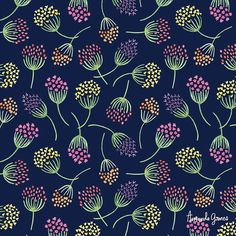 """Polubienia: 61, komentarze: 4 – Amanda Gomes • Designer (@delightedco) na Instagramie: """"Happy weekend! Blooms on blue for day 18/100. . . . . . . #the100dayproject #delightedpatterns…"""""""