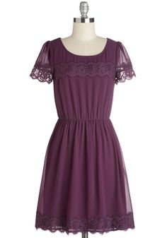 One of a Kindhearted Dress. Your caring nature is a treasured trait, so its no wonder youre flaunting this jewel of a dress to tonights fundraiser! #purple #modcloth