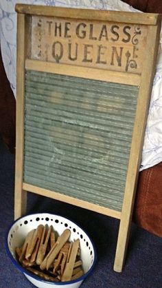 Vintage Glass Queen Washboard