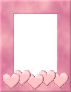 Free Dusty Pink Hearts Frame Valentine's Day Graphic - Transparent ...
