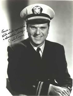 Jackie Cooper served in the USN during WWII in the So. Pacific. Remained active in reserves for several decades reaching the rank Captain. In '59 commissioned Line Officer helping in recruiting, P.R. and training films. Co-piloted jets for the USN and was one of three to be an Honorary Aviator. Was in uniform aboard the USS Constellation for the Bicentennial Celebration. Holds Letters of Commendation from 6 Secretaries of Navy, Charter of VIVA and upon retirement in '82 received Legion of…