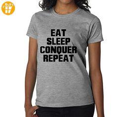 Eat Sleep Conquer Repeat XXL Damen T-Shirt (*Partner-Link)