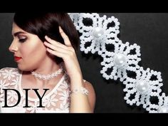 "DIY: Wedding ""Lace"" beaded choker (necklace) with pearls / Свадебный чок. Beaded Necklace Patterns, Beaded Choker Necklace, Diy Necklace, Beaded Bracelets, Seed Bead Tutorials, Beading Tutorials, Beading Patterns, Lace Weddings, Wedding Lace"