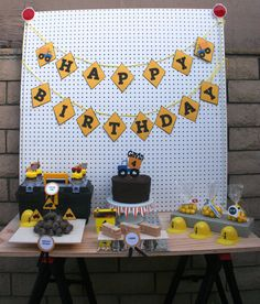Construction Birthday Party Package Dump Truck por EMTsweeetie