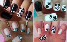 Esmalte das leitoras: preto e branco!