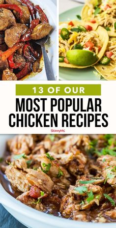 Looking for the most popular chicken recipes? Keep the routine fresh with this list of 14 of our all-time fan favorites. Looking for the most popular chicken recipes? Keep the routine fresh with this list of 14 of our all-time fan favorites. Clean Eating Recipes For Dinner, Clean Eating Meal Plan, Healthy Dinner Recipes, Healthy Eating, Skinny Chicken Recipes, Skinny Meals, Skinny Mom, Chicken Meals, Skinny Recipes