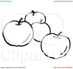 Black And White Mango Clip Art