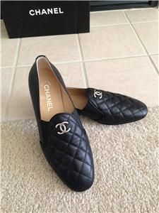 mens C H A N E L quilted loafers -- NICE!!