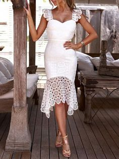 Bodycon Lace Backless Sexy Pencil Dress - Power Day Sale Bodycon Dress Outfit, Bodycon Dress Formal, Bodycon Dress Parties, Lace Midi Dress, Dress Outfits, Dress Casual, Lace Party Dresses, Sexy Dresses, Elegant Woman
