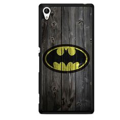 Batman Logo On WoodPhonecase Cover Case For Sony Xperia Z1 Xperia Z2 Xperia Z3 Xperia Z4