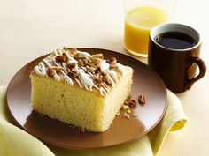 Gluten free Eggnog Breakfast Cake...super easy!  Uses a yellow g-f cake mix