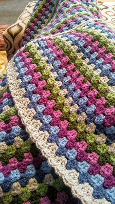 Ravelry: Project Gallery for Granny Stripes pattern by Lucy of Granny Stripes, Point Granny Au Crochet, Granny Stripe Blanket, Granny Square Crochet Pattern, Afghan Crochet Patterns, Baby Blanket Crochet, Crochet Afghans, Crochet Stitches, Crochet Simple
