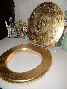 gold toilet seat cover. Gold Leaf Toilet Seat  Flickr Photo Sharing Two faces of gold Nasa message to aliens carried by the Voyager