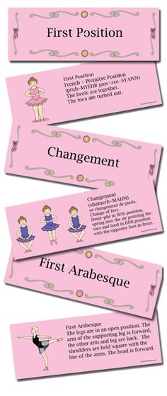 Ballet Flashcards may be a tool for vocabulary review with students.