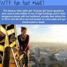 Risky Selfie Girl - WTF fun fact