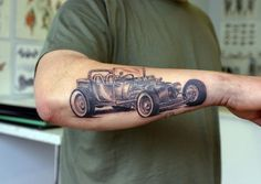 T Ford  arm tattoo - 60 Awesome Arm Tattoo Designs  <3 <3