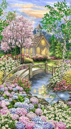 Beautiful Landscape Wallpaper, Beautiful Flowers Wallpapers, Scenery Wallpaper, Flower Wallpaper, Beautiful Landscapes, Beautiful Gardens, Timeless Treasures Fabric, Image Nature, Nature Nature