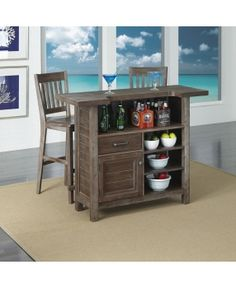 Home Styles Barnside Bar Set With Wine Storage Jaime Erson Walk Up