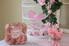 Bird Themed Baby Shower Decorations and Frame