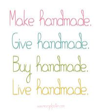 Words to live by handmade
