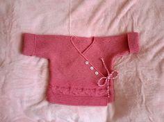 Strickjacken - Baby Strickjacke.Wickeljacke.Handgestrickt - ein Designerstück von Lydia603 bei DaWanda
