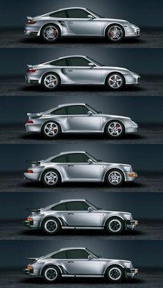 Evolution de la voiture #Porsche #car