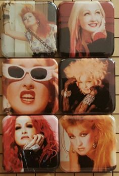 Check out this item in my Etsy shop https://www.etsy.com/listing/450757308/cyndi-lauper-backpack-pins-photo-pins