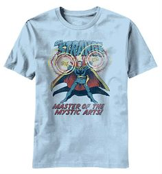 This is one of our favorite Marvel shirts. Doctor Strange is one cool characters and he looks awesome retro style!