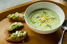 Chilled Cucumber Soup With Avocado Toast - NYTimes.com  Made this today and it was delish!