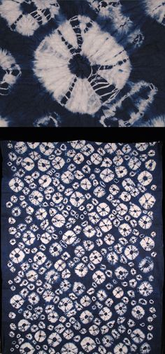 Africa | Adire Oniko textile from the Yoruba people of Nigeria | Cotton damask; indigo tie dyed