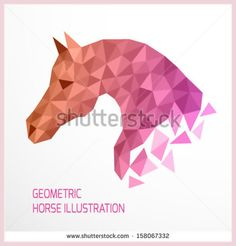 Vector illustration of geometric horse