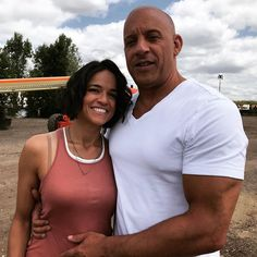 Production is well under way for Fast and Furious and we're getting emotional seeing the cast back together again. The original gang — including Vin Michelle Rodriguez, Vin Diesel, Fast And Furious, Mark Strong, Kingsman, Photos Of Priyanka Chopra, Dom And Letty, 9 Film, Dominic Toretto