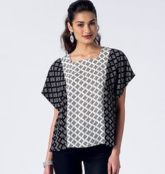 Purchase McCall's 7361 Misses' Square or V-Neck Pullover Tops and read its pattern reviews. Find other Tops, sewing patterns.