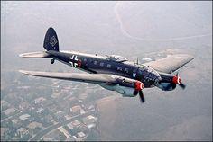 Heinkel He 111 German Medium Bomber.