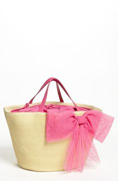 RED Valentino 'Bow' Straw Tote  #Nordstrom