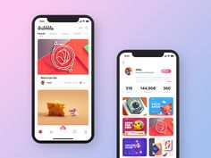The design of dribbble application