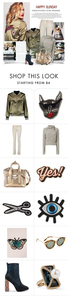 """""""Happy Sunday"""" by thewondersoffashion ❤ liked on Polyvore featuring Boohoo, Supersweet, Étoile Isabel Marant, 10 Crosby Derek Lam, 3.1 Phillip Lim, Anya Hindmarch, Olympia Le-Tan, Retrò, Karen Walker and Sophia Webster"""