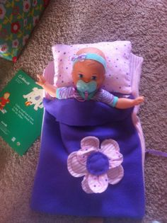 Doll sleeping bag made for my niece (and her doll)'