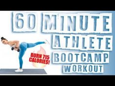 60 Minute Athlete Boot Camp With Dumbbells Workout Burn Calories! Video Sport, Hiit Program, Youtube Workout, Boot Camp Workout, Dumbbell Workout, Fat Workout, Workout Tips, Half Marathon Training, Fitness Journal