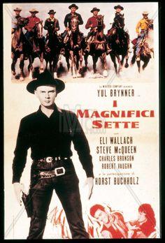 Watched september 2018 on - James Coburn Magnificent Seven 1960 Western Steve McQueen Yul Brynner Love Movie, Movie Tv, Horst Buchholz, Steve Mcqueen Movies, Robert Vaughn, Yul Brynner, The Magnificent Seven, Charles Bronson, Western Film