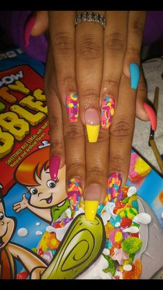 """If you're unfamiliar with nail trends and you hear the words """"coffin nails,"""" what comes to mind? It's not nails with coffins drawn on them. It's long nails with a square tip, and the look has. Sexy Nails, Hot Nails, Stiletto Nails, Coffin Nails, Acrylic Nails, Glitter Nails, Beautiful Nail Designs, Cute Nail Designs, Pedicure Designs"""